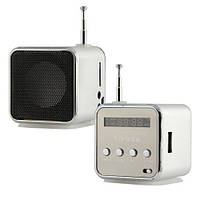 Мини портативная MP3 колонка от USB FM TD-V26 Grey , мини колонка