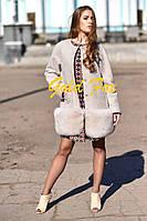 Пальто кашемировое с мехом песца