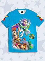 Модная 3D детская футболка Toy Story с ярким принтом/рисунком известного мультфильма.