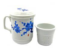 """Чашка заварник с ситечком """"Сакура"""" (230 мл)"""