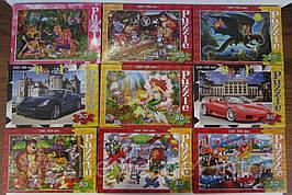 Пазлы Danko Toys C-80 (230*165 мм., 80 элементов, сказки, машины)
