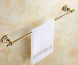 Вешалка для полотенец золото настенная для ванной или на кухню, фото 2
