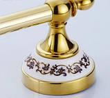Вішалка для рушників золото настінна для ванної або на кухню 0246, фото 3