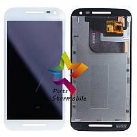 Дисплей для мобильных телефонов Motorola XT1540 Moto G3 (3nd Gen), белый, с сенсорным экраном