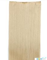 Купить недорого ровные трессы,накладные волосы 60 см цвет блонд