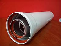 Удлинитель 0,5м (500мм) коаксиальный AL/AL турбо 60/100 усиленный