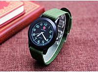 Swiss army мужские часы,Военно-Спортивный стиль,зеленый нейлоновый браслет