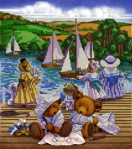 Схема для вышивки бисером POINT ART Игра в пиратов, размер 23х26 см