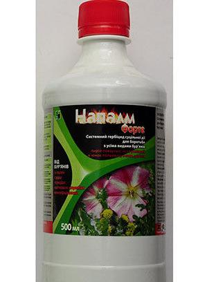 Гербицид сплошного действия Напалм Форте (500мл) - для борьбы с сорняками, фото 2
