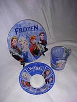 Стеклянная детская посуда Холодное Сердце Frozen набор