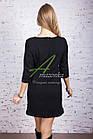 Трикотажное женское платье с кожаными вставками - весна 2018 - Код пл-131, фото 3