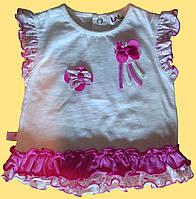 Комплект одежды для новорожденной девочки: блуза и розовые велосипедки