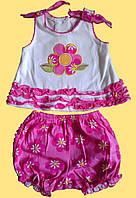 """Комплект """"Цветочек"""" для девочки 3 мес.: майка и шортики"""