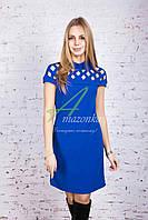 Трикотажное женское платье от производителя - весна 2017 - Код пл-128