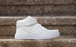 Кроссовки Nike Air Force, белые, высокие, унисекс