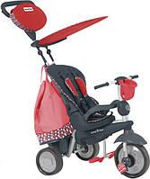 Велосипед  3-х колесный с ручкой и корзиной Smart Trike Splash 5 в 1 красный