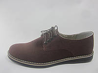 Туфли мужские из конопли «Комфорт бордо»