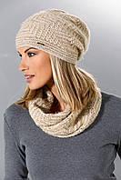 Теплая вязанная женская шапка от Loman Польша