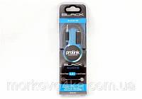 Аудио-кабель 3.5 jack/M/F 5 метров (в упаковке) Black, кабель удлинитель