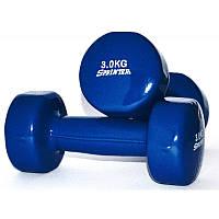 Гантели для фитнеса виниловые 3 кг (1 шт)