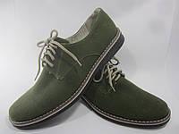 Туфли мужские из конопли «Комфорт» темно-зеленые