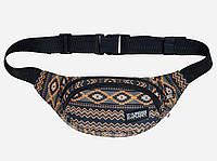 Поясная сумка коричневая с орнаментом Native Khk Urban Planet