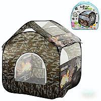 Палатка игровая М 2501, домик 100*100*100 см, камуфляж, 4 окна-сетки, 1 вход, на змейке, в сумке 41,5*41,5*6,5