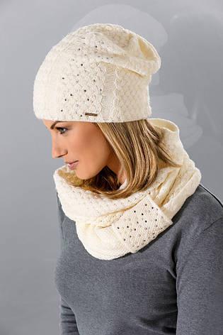Тепла в'язана жіноча шапочка від Loman Польща, фото 2