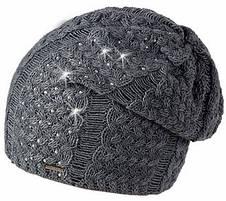 Тепла в'язана жіноча шапочка від Loman Польща, фото 3