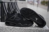 Мужские кроссовки Nike Air Jordan 4 Triple Bclack