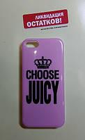 Накладка-принт для iPhone 5/5S розовый