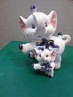 Сувенир Слоник со слоненком на подарок маме
