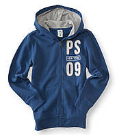 "Кофта худи для мальчика PS Aeropostale  ""PS New York 09"" светло-синяя р.6,7"
