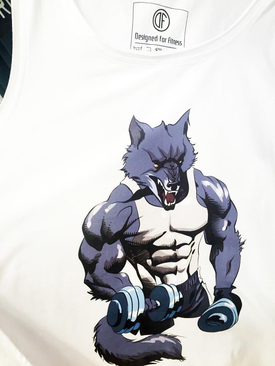 Мужская спортивная майка Wolf