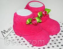 Носки с розочкой Хлопок р.0-6 мес.