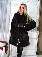 Норковая шуба 50 48 размера с шалевым воротником