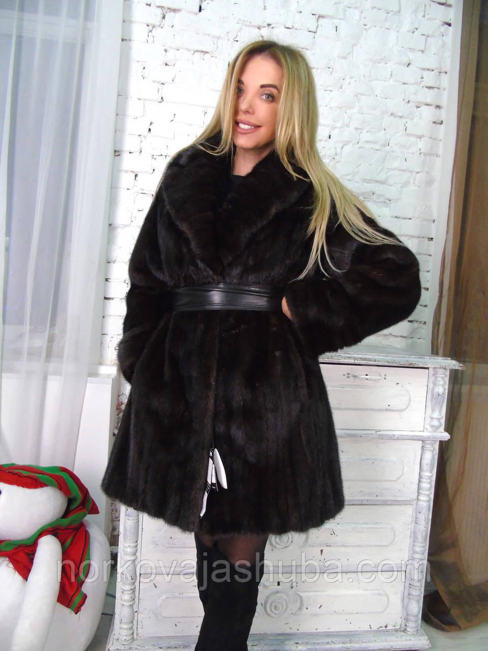 Норковая шуба 50 48 размера с шалевым воротником - Интернет-магазин FUR  STAR в Харькове ae543cd0b4686