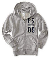 "Кофта худи детская PS Aeropostale  ""PS New York 09"" светло-серая р.5,6"