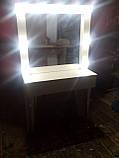 Белый стол для макияжа с подсветкой А30, фото 3