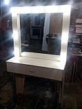 Белый стол для макияжа с подсветкой А30, фото 6