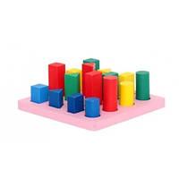 Деревянная игра Геометрические фигуры-цвет Д454у Руди, 16 деталей