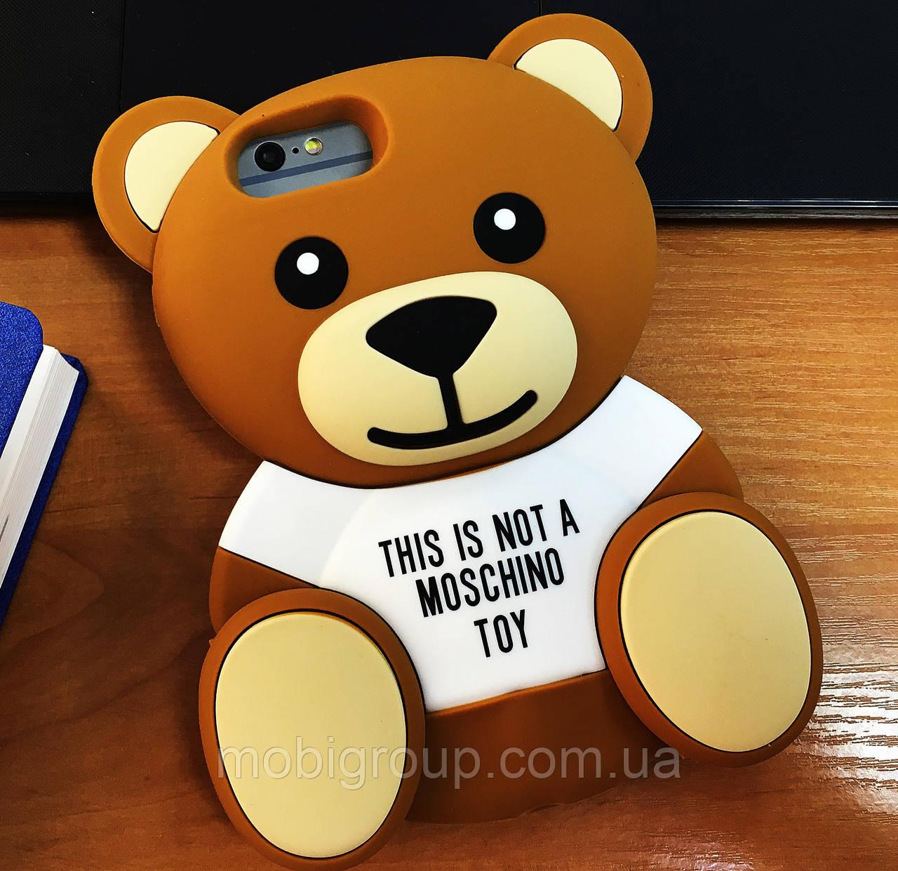 Чехол Moschino Bear Медведь для iPhone 7Plus, Мишка