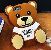 Чехол Moschino Bear Медведь для iPhone 7Plus, Мишка, фото 1