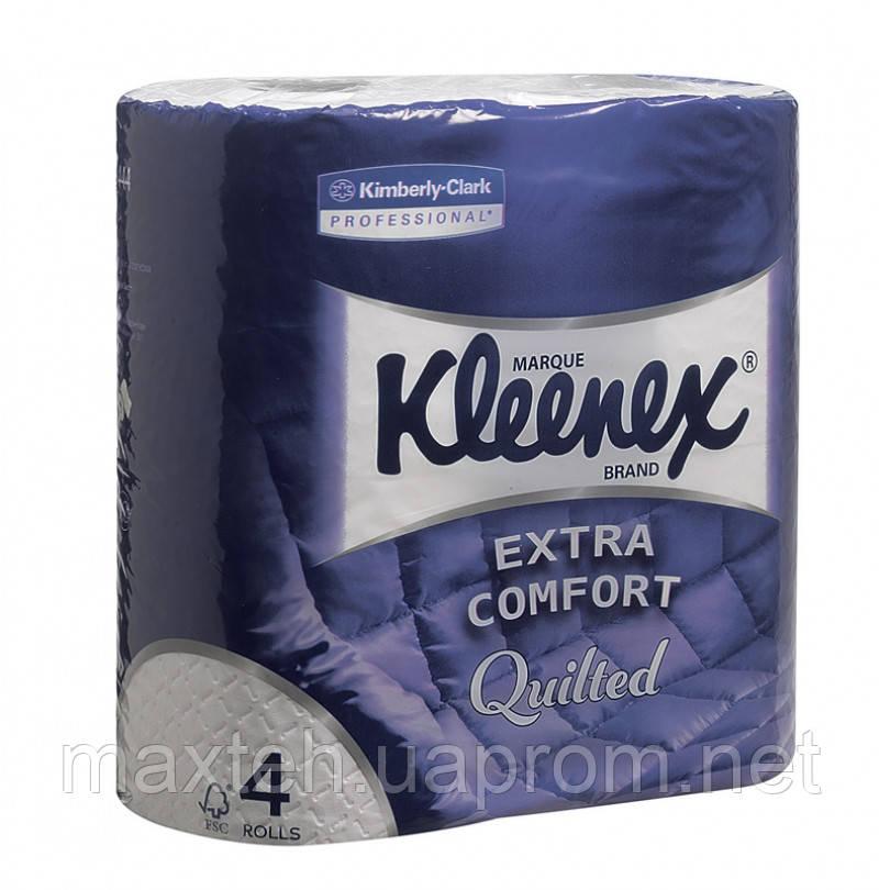 Туалетная бумага в стандартных рулонах Клинекс 4 рулона в упаковке