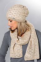 Теплый вязанный женский шарфик шаль от Loman Польша