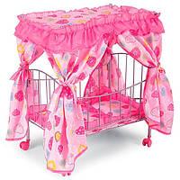 Кроватка для кукол с балдахином-крышей ( самая большая и реалистичная из всех кукольных кроваток!)