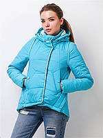 Женская демисезонная куртка на силиконе 90145 52-54