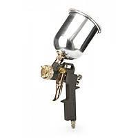 Miol 80-865 Краскопульт пневматический (покрасочный пистолет) с алюминиевым баком 1,5мм