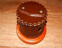 Распределительная коробка тип №1 ZION керамическая коричневая