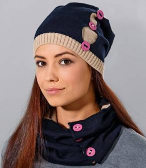 Теплый вязанный молодежный шарфик хомут  от Loman Польша, фото 2